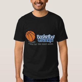 Camisetas del abuelo del baloncesto playera