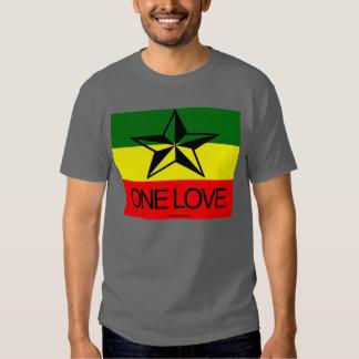 Camisetas del amor de Rasta uno Playeras