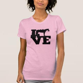 Camisetas del amor del caballo del placer