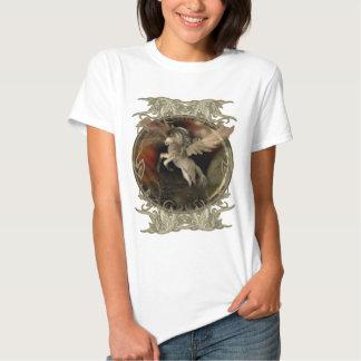 Camisetas del arte de la fantasía de Pegaso Playera