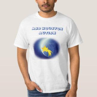 Camisetas del autismo de ASD Houston (blanco)