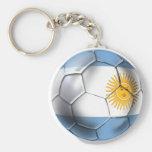 Camisetas del balón de fútbol de la Argentina Arge Llavero Redondo Tipo Pin
