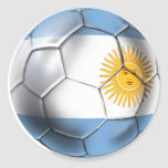 Camisetas del balón de fútbol de la Argentina Pegatina Redonda
