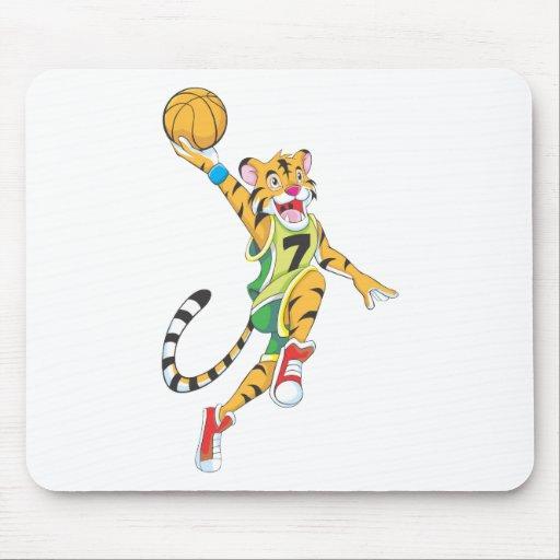 Camisetas del baloncesto - baloncesto de la clavad alfombrilla de ratones