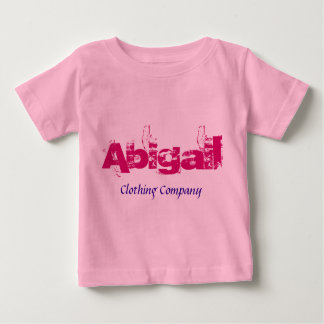Camisetas del bebé de Abigail Name Clothing