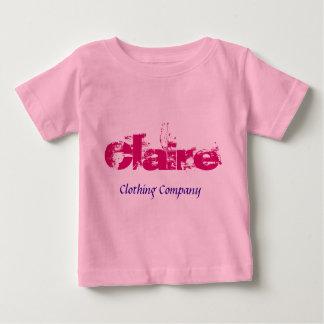 Camisetas del bebé de Claire Name Clothing Company