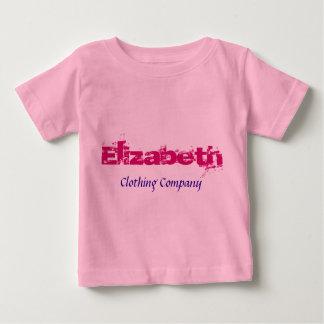 Camisetas del bebé de Elizabeth Name Clothing