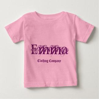 Camisetas del bebé de Emma Name Clothing Company