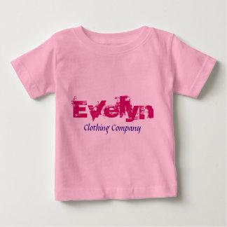 Camisetas del bebé de Evelyn Name Clothing Company