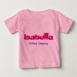 Camisetas del bebé de Isabella Name Clothing