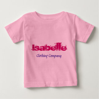 Camisetas del bebé de Isabelle Name Clothing