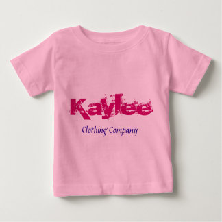 Camisetas del bebé de Kaylee Name Clothing Company