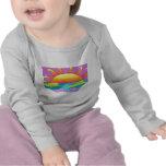 Camisetas del bebé de la playa