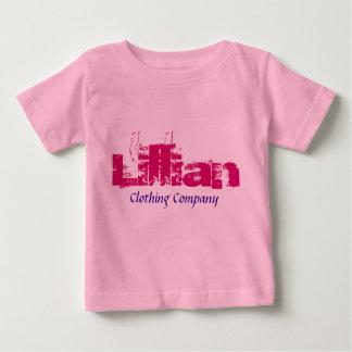 Camisetas del bebé de Lillian Name Clothing