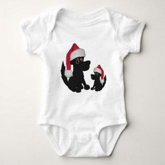Camisetas del bebé de los perros del navidad playeras