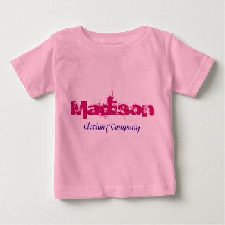 Camisetas del bebé de Madison Name Clothing