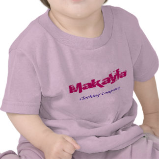 Camisetas del bebé de Makayla Name Clothing Compan