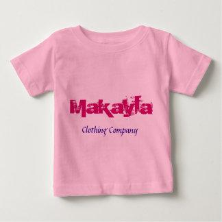 Camisetas del bebé de Makayla Name Clothing