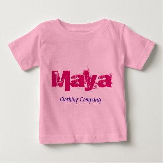 Camisetas del bebé de Maya Name Clothing Company Playera