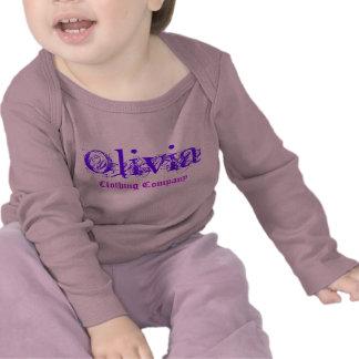 Camisetas del bebé de Olivia Name Clothing Company