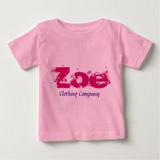 Camisetas del bebé de Zoe Name Clothing Company