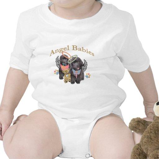 Camisetas del bebé del ángel de Terranova