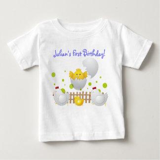 Camisetas del bebé del cumpleaños del polluelo playera para bebé