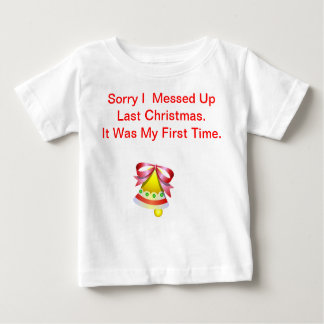 Camisetas del bebé del navidad - tristes ensucié playera