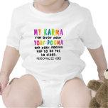 Camisetas del bebé, enredaderas - karmas del dogma