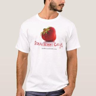 Camisetas del blanco de la FRESA COUGH™