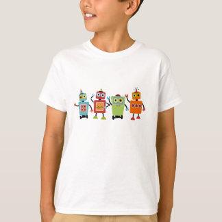 Camisetas del blanco del cuarteto del robot