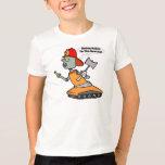 Camisetas del bombero del robot camisas