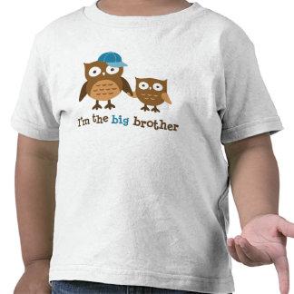 Camisetas del búho de la MOD de hermano mayor para