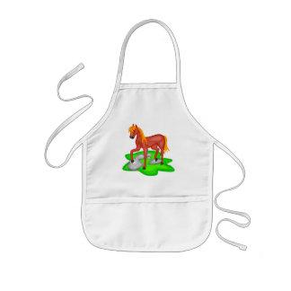 Camisetas del caballo de los niños y regalos del c delantales