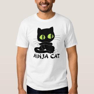 Camisetas del CAT de NINJA, divertidas Camisas