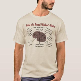 Camisetas del cerebro del empleado de correos