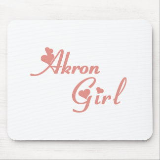 Camisetas del chica de Akron Tapete De Raton