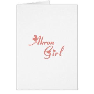 Camisetas del chica de Akron Felicitación