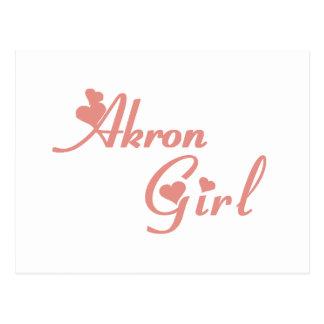 Camisetas del chica de Akron Postal