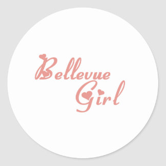 Camisetas del chica de Bellevue Etiqueta Redonda