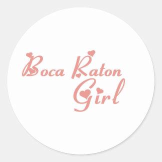 Camisetas del chica de Boca Raton Etiquetas