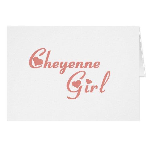 Camisetas del chica de Cheyenne Felicitación