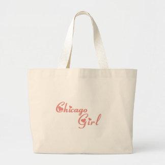 Camisetas del chica de Chicago Bolsas