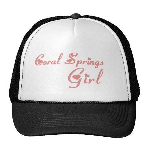 Camisetas del chica de Coral Springs Gorras De Camionero
