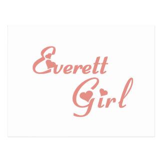 Camisetas del chica de Everett Postal