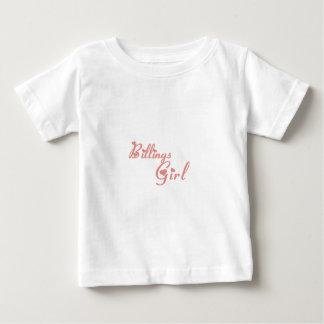 Camisetas del chica de facturaciones polera