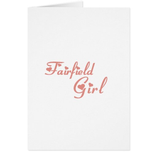Camisetas del chica de Fairfield Felicitaciones