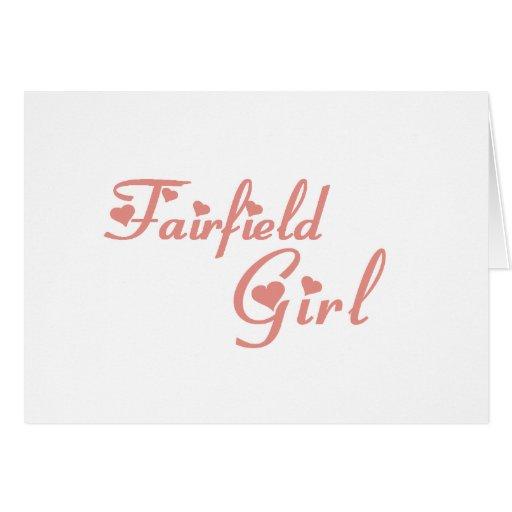 Camisetas del chica de Fairfield Tarjeta