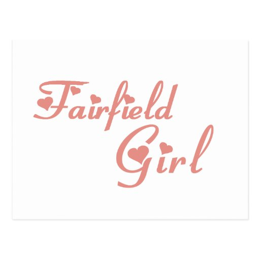 Camisetas del chica de Fairfield Tarjetas Postales