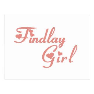 Camisetas del chica de Findlay Tarjeta Postal